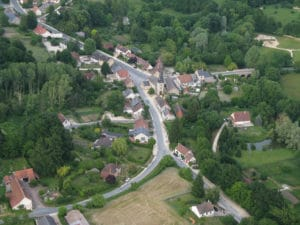 Saint Laurent : vue aérienne